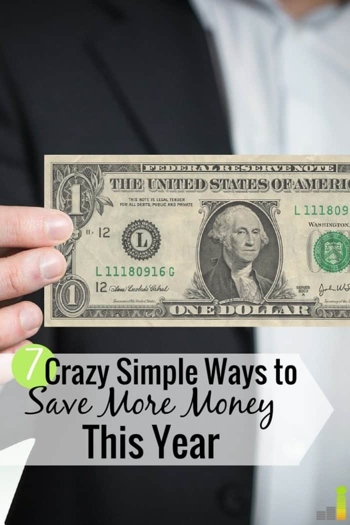 Want to save more money this year but don't know where to start? Here are 7 ways to save money this year that you can do with little effort.