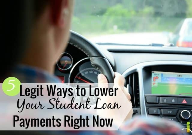 You can lower your student loan payments in many ways. Here are 5 legit ways to reduce your loan payments and still allow you to become debt free.