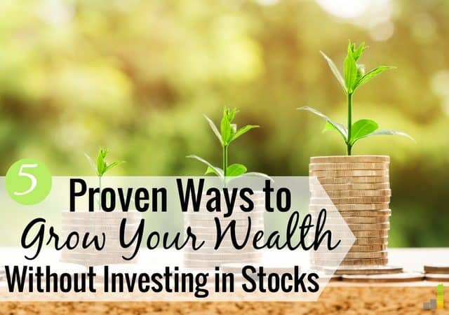 It's important to build wealth outside the stock market. Here are the five top stock market alternatives that will increase your net worth.