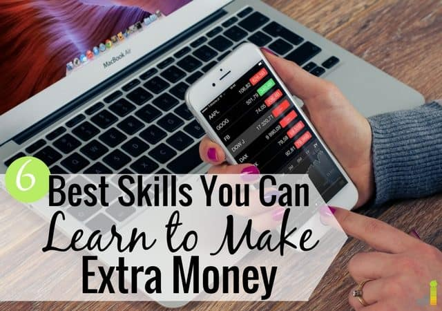 Looking for the best skills to learn to make money? This post shares 6 skills to learn to make extra money and improve your long-term finances.