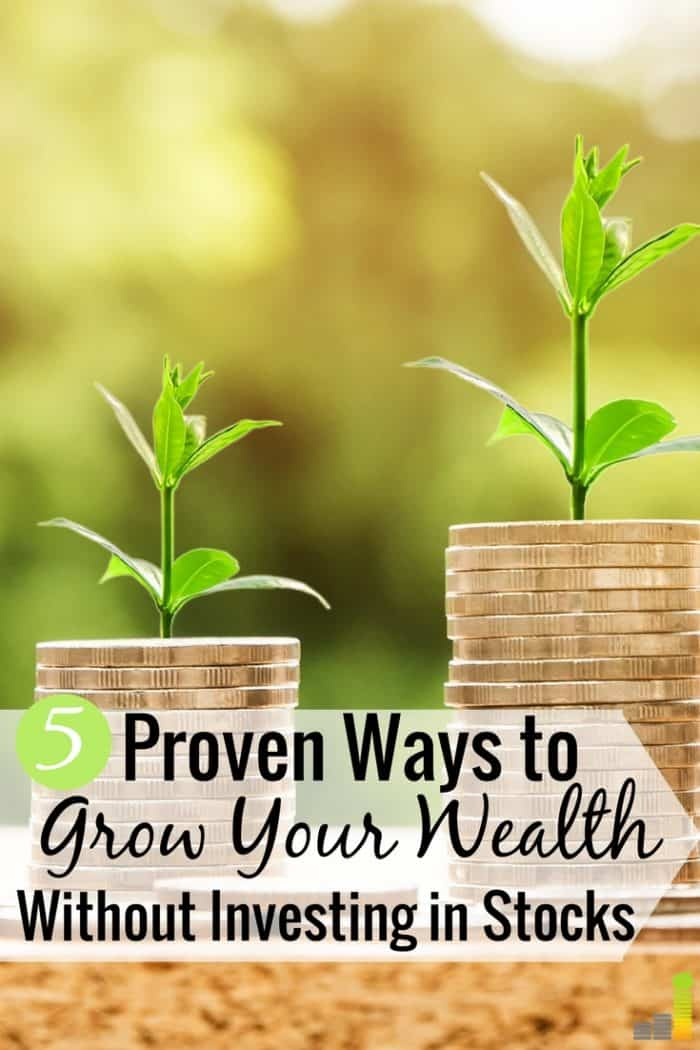 It's important to build wealth outside the stock market so you can create multiple streams of income. Here are the five top stock market alternatives that will increase your net worth.