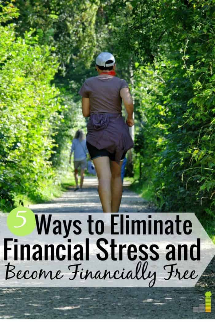 Dealing with financial stress is common for many people. Here are 5 ways to overcome financial problems and gain happiness and financial freedom.