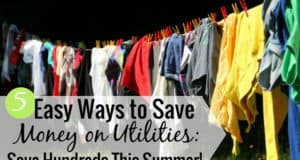 It's possible to save money on utilities this summer and help pad your budget. Here are five ways to reduce energy to help save the planet and save you a little money this summer.