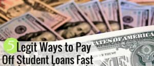 You can pay off student loans faster than you think. You can use programs to help pay off student loans or raise money to pay them off, or simply make extra money as all are effective. Here are 5 ways to pay off student loan debt quickly and become debt free for good.