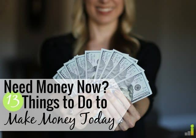 I need money now is a common feeling by many to make ends meet. Here are 13 ways to get money today to pay bills or put extra money in your wallet.