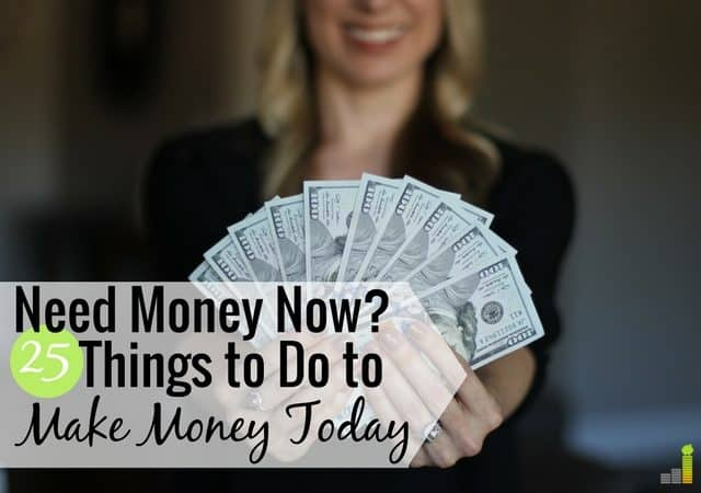 I need money now is a common feeling by many to make ends meet. Here are 25 ways to get money today to pay a bill or put extra money in your wallet.
