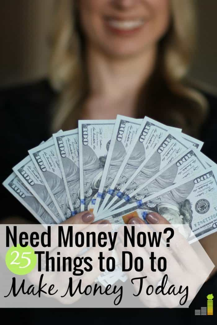 I need money now is a common feeling by many to make ends meet. Here are 25 ways to get money today that will help you pay a bill or put extra money in your wallet – plus five ways to avoid if you need to make quick money.