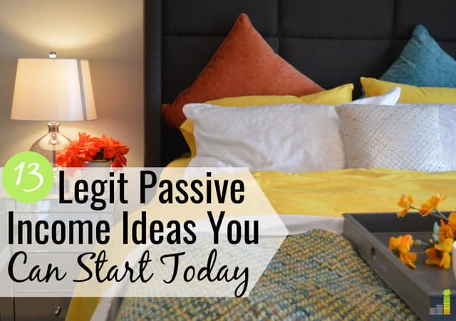 Need great passive income ideas? Here's a list of 13 legit ideas that will help you make money while you sleep and make extra money to reach your goals.