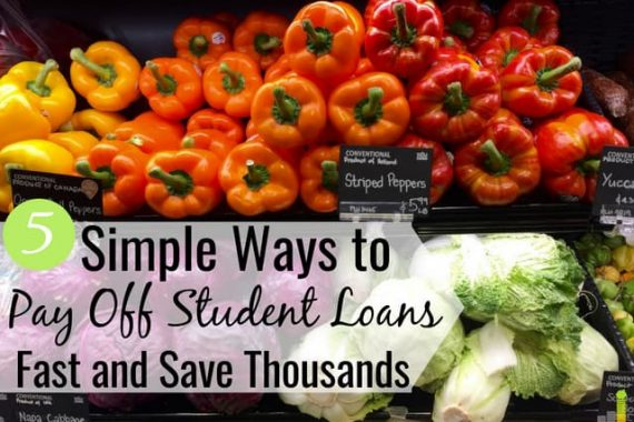 You can pay off student loans faster than you think. Here are 5 effective ways to pay off student loan debt quickly and become debt free for good.
