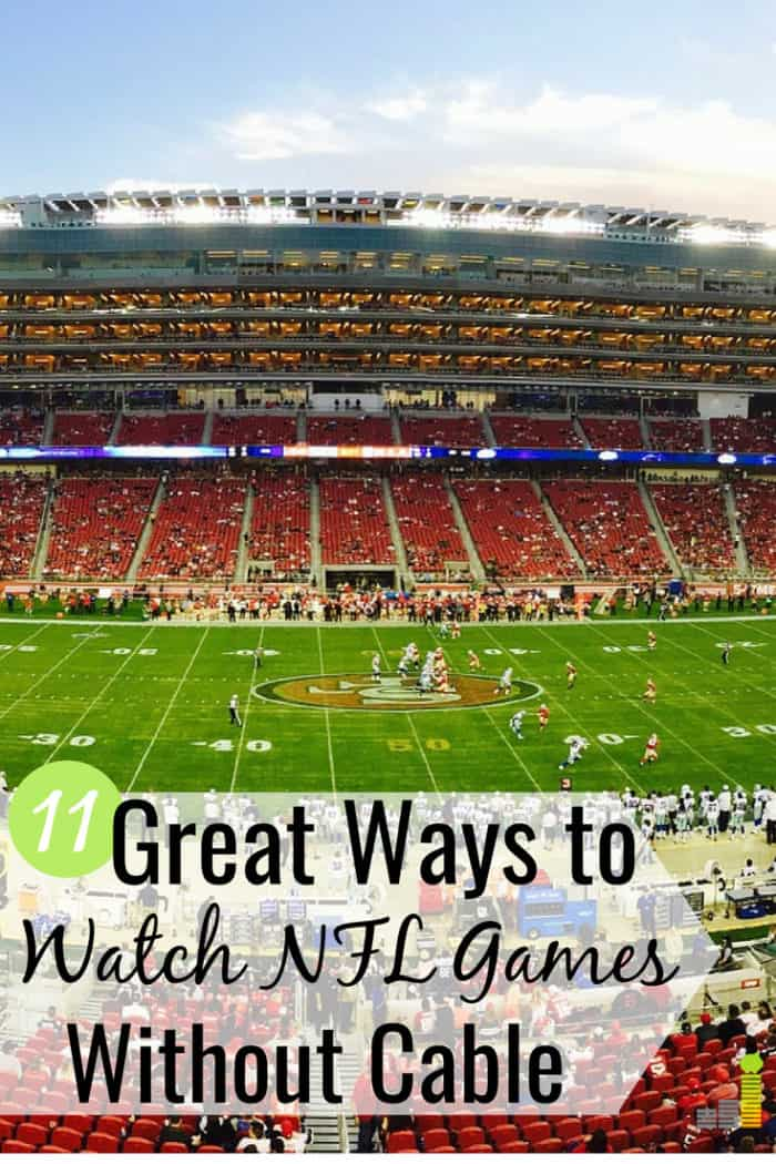 Here's how to watch NFL games without cable and save big money. I share 10 ways to watch NFL games online and still see your favorite team each week.