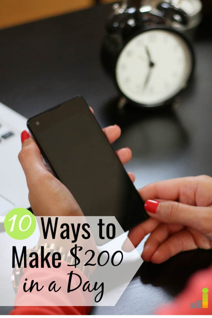 When life happens and you need money quickly, here are a few things you can do to quickly make $200 in a day so you can avoid going into debt.
