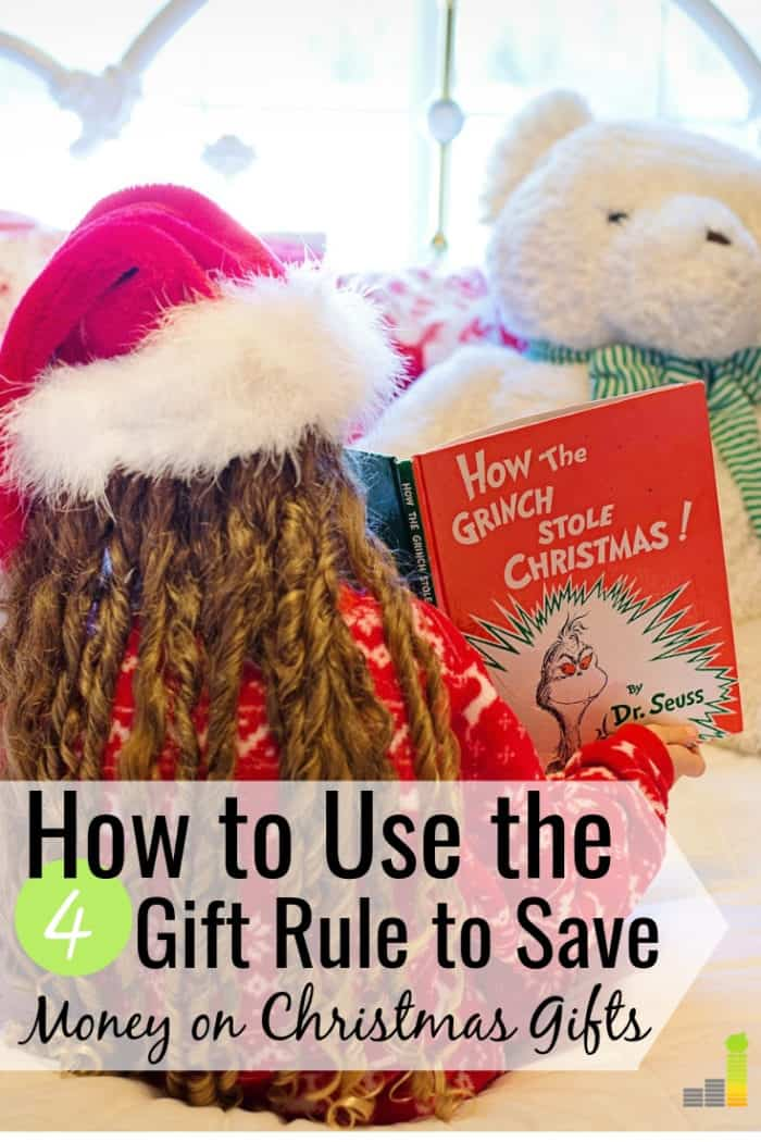 The 4 gift rule for Christmas helps you stay on budget and still get your kids gifts that they want. Here's how the four gift rule can make shopping easy.