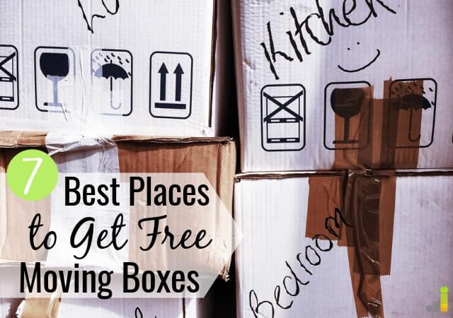 Looking for free moving boxes? We share the 7 best places to get moving boxes for free or cheap so you can save money on moving costs.