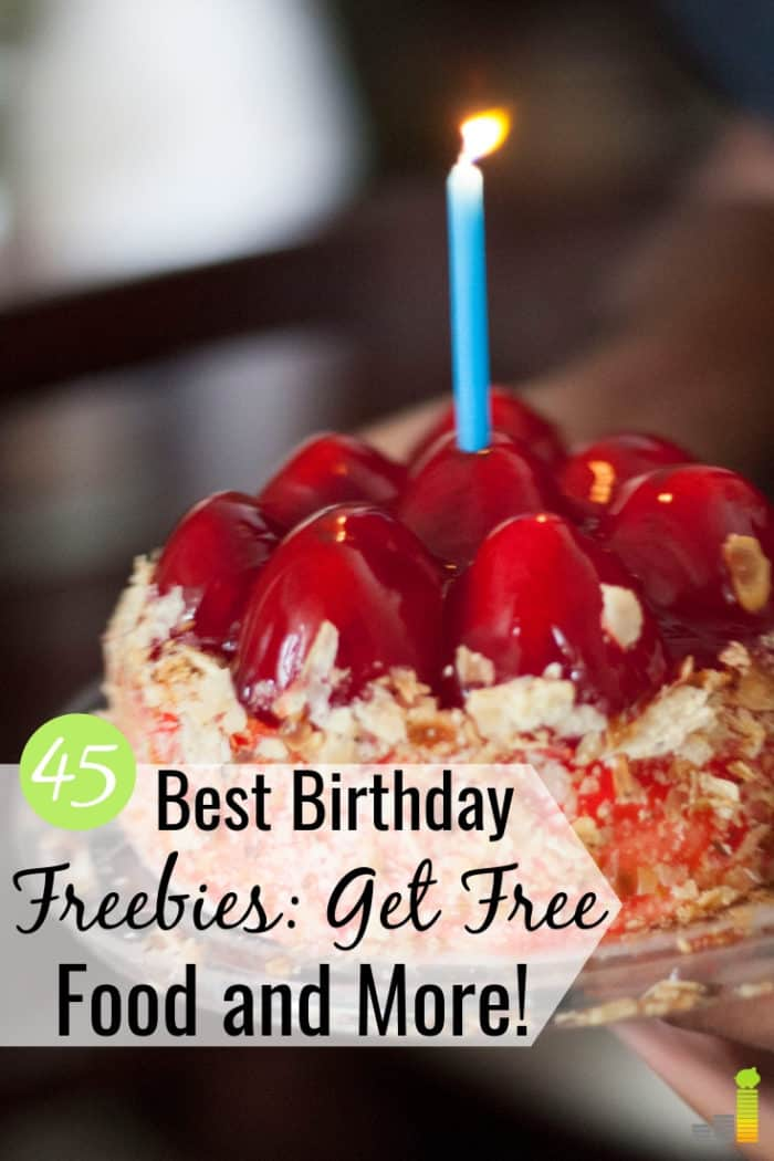Do you like to get free stuff on your birthday? We share the 45 best places to get birthday freebies that give you free food, and more on your special day.