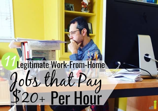 11 Legitimate Work-From-Home Jobs That Pay $20+ Per Hour ... on business opportunities from home, work at home, shopping from home, paid surveys from home, training from home, data entry from home, affiliate marketing from home, business ideas from home,