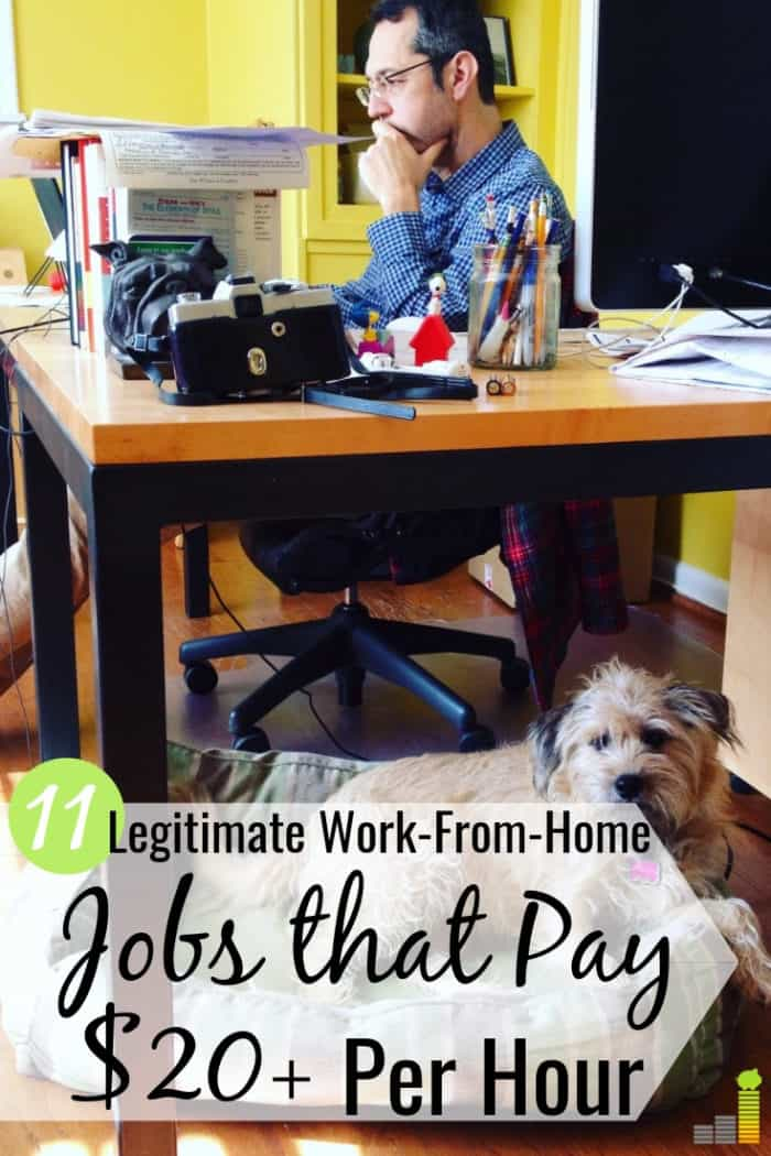 Legitimate work-from-home jobs are a great way to earn money. Here's a list of 11 best home-based work opportunities that let you earn $20+ per hour.