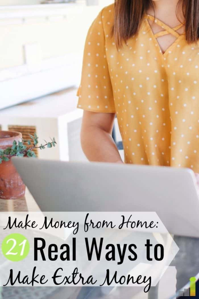 There are many ways to make money from home. We share 21 real ways to make money at home that can let you earn extra spending money or replace your income.