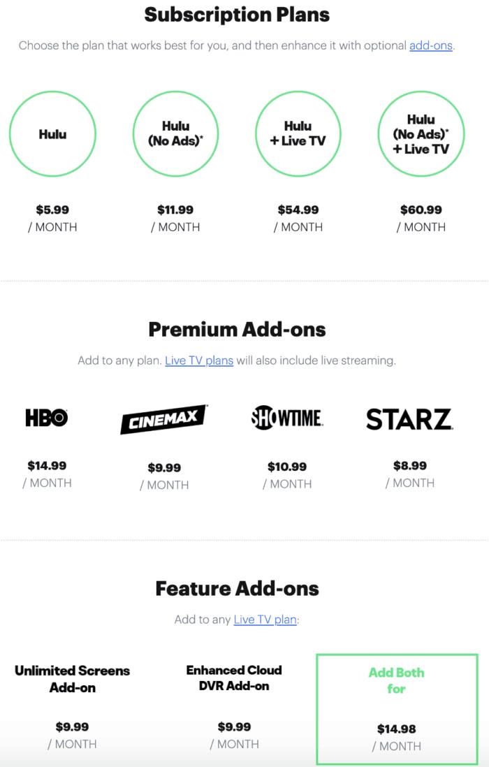 Hulu vs. Hulu Live