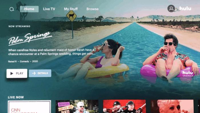 Hulu interface