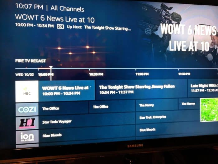 Amazon Fire TV channel Guide