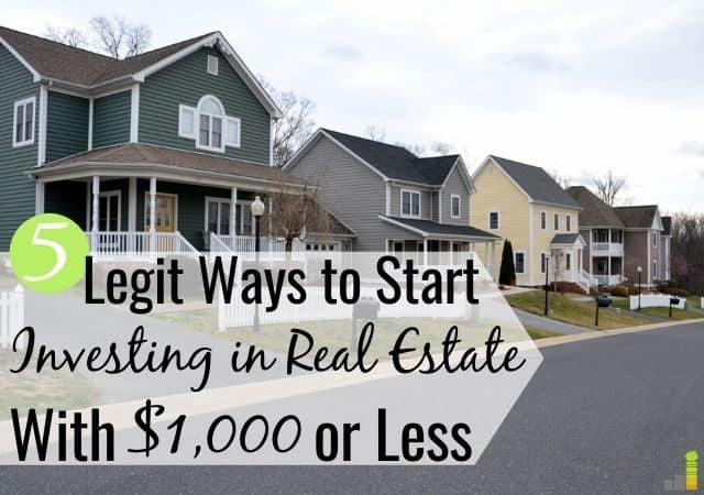 You can start investing in real estate with $1,000 or less. We share the top 5 places to invest in real estate with little money and grow your wealth.