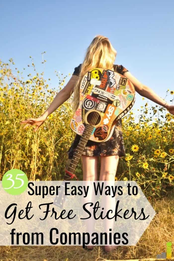 Want to know how to get free stickers in the mail? We share the top 35 companies that mail free stickers to your home so you can grow your collection.