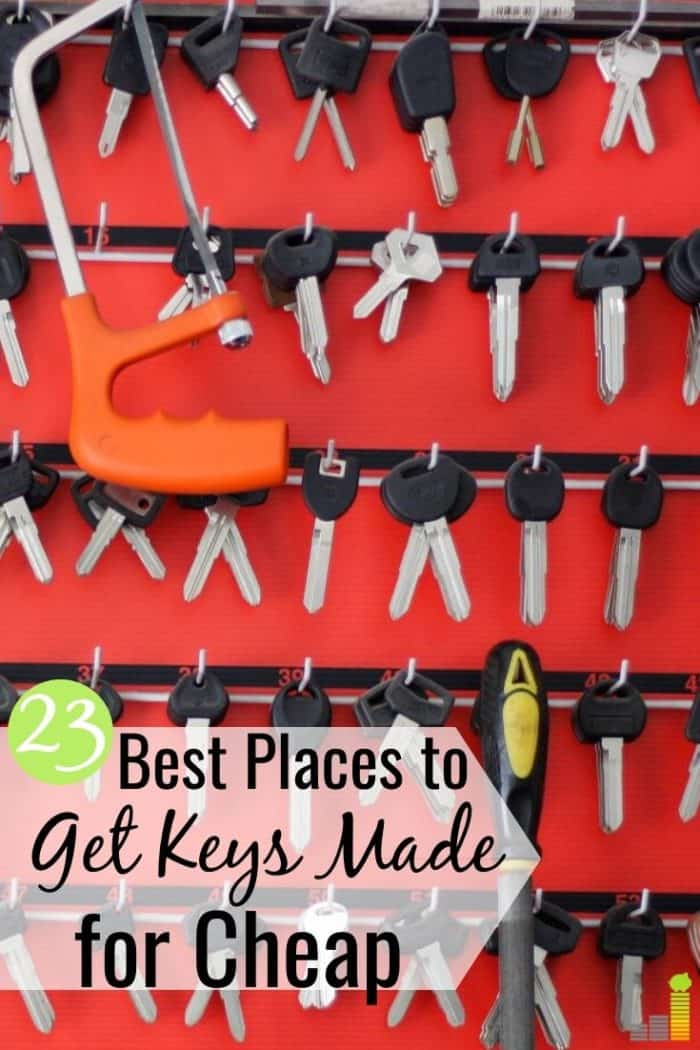 Want to know where to get keys made near me quickly and for cheap? Here are the 23 best places for key duplication that don't require you to spend a lot.