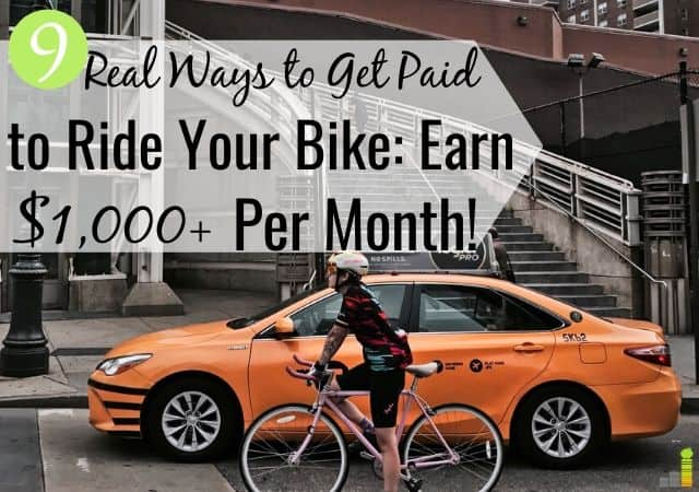 You can make money with your bike as a side hustle. Here are 9 legit ways to get paid to ride a bicycle in your spare time and spend time in the outdoors.