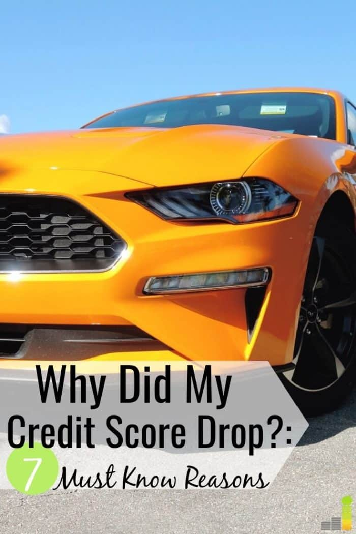 Why did my credit score drop when nothing changed is a common question. Here are 7 reasons why your credit score will go down and how to rectify it.
