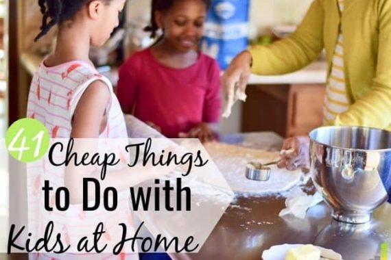 Are you looking for cheap activities for kids at home during a quarantine? Here's a list of 41 fun things to do with kids for hours of entertainment.