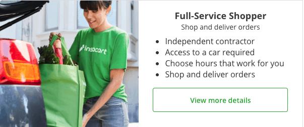 Full-service shopper