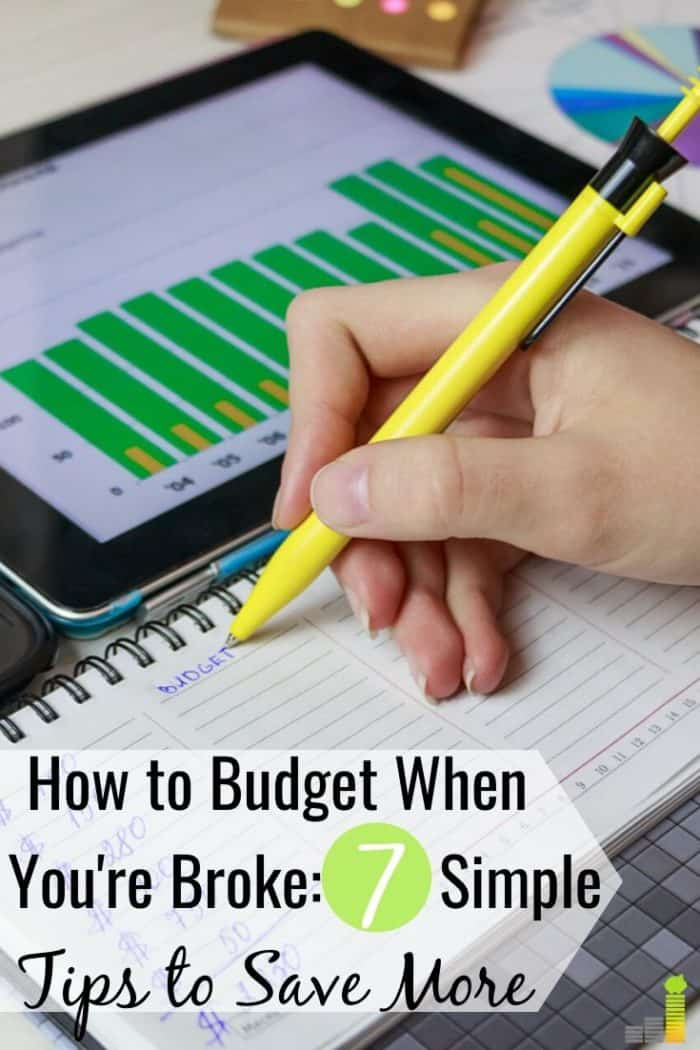 Setting and living on a budget when you're strapped for cash is difficult but not impossible. Here are seven simple steps to making the impossible possible.