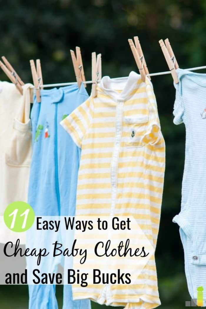 Do you need to find places to buy cheap baby clothes online? Here are 11 top ways to find affordable kids clothing and save money for other items you need.