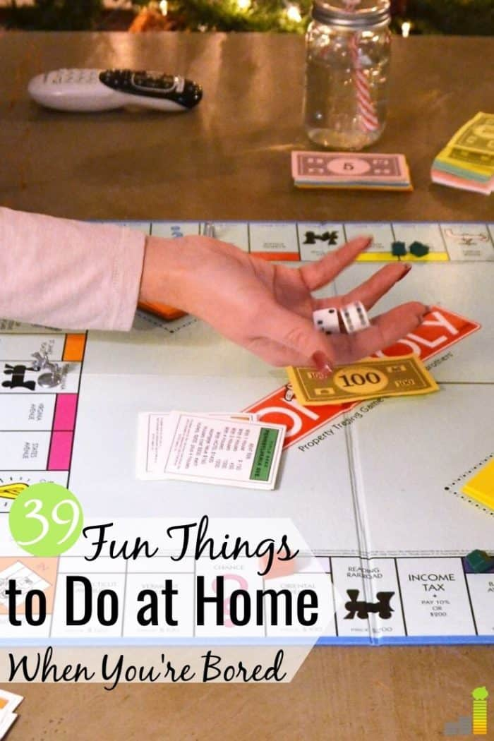 Are you looking for fun things to do at home when stuck inside? Here are 39 entertaining things to do today to fill your time without spending too much.