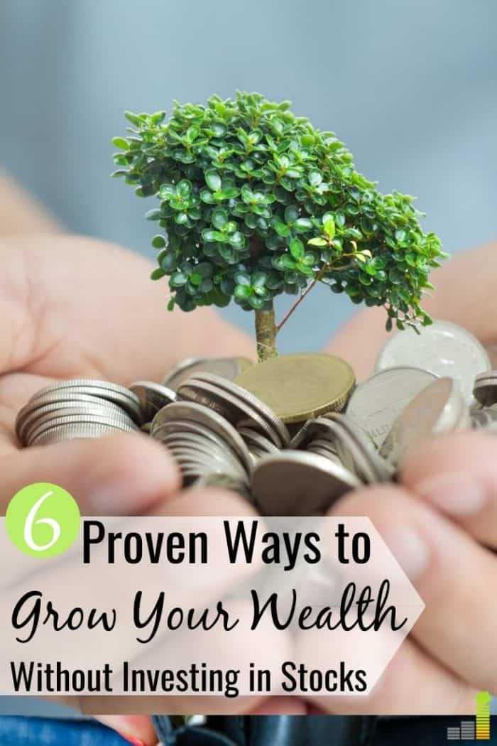 It's important to build wealth outside the stock market. Here are the six top stock market alternatives that will increase your net worth.