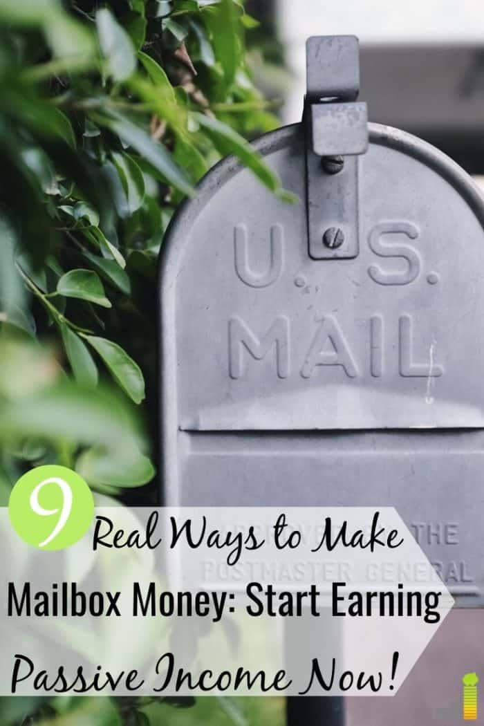 Trying to make mailbox money, but don't know where to start? Here are 9 legit ways to start earning passive income and make money while you sleep.