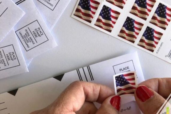 Want to know where to buy stamps near me? Here are 50+ places to buy stamps – locally and online, plus the cost for a book of stamps.